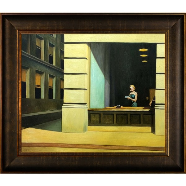 Shop Edward Hopper \u0027New York Office, 1962\u0027 Hand Painted Framed