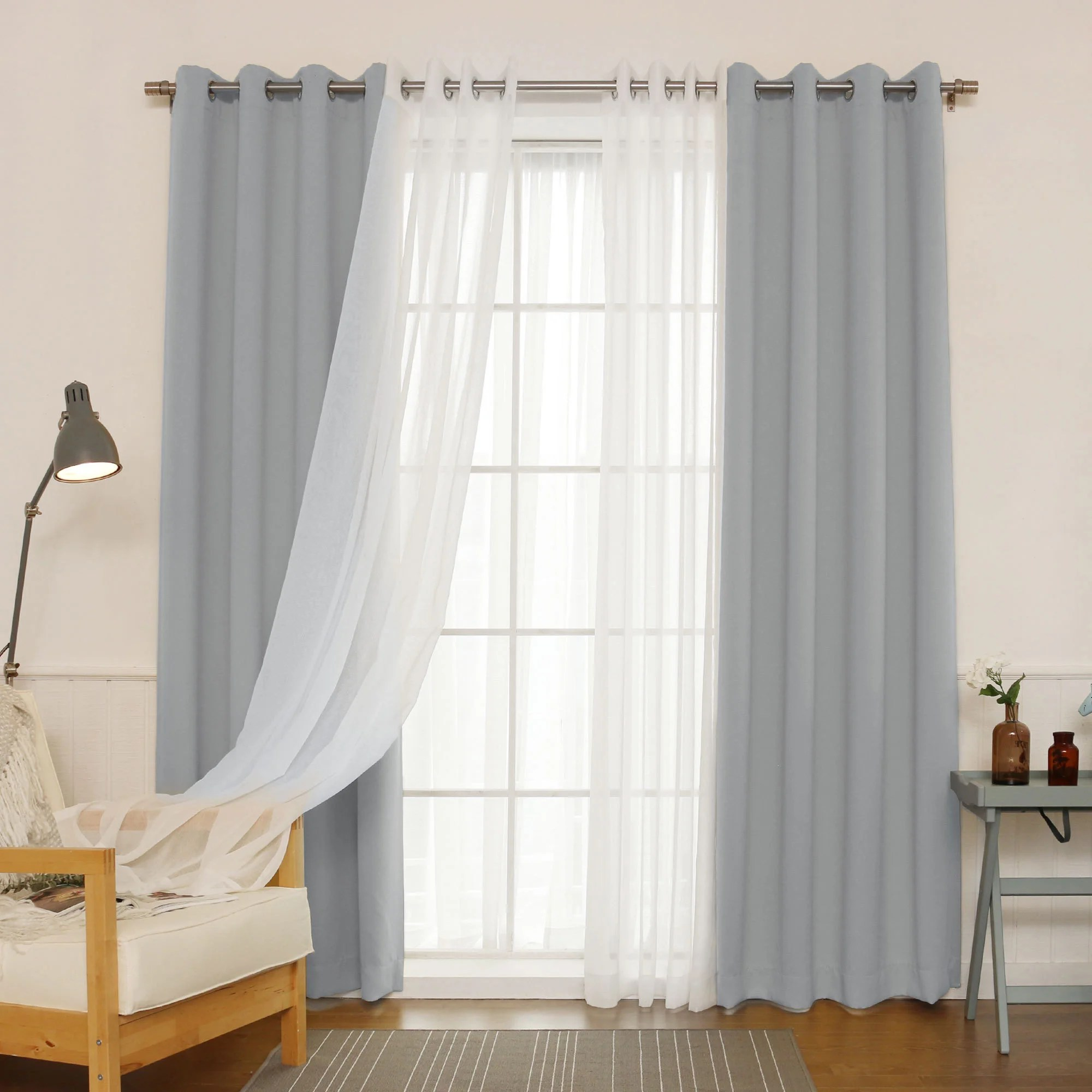 Curtain For Double Window Buy Thermal Sheer Curtains Online At Overstock Our Best Window