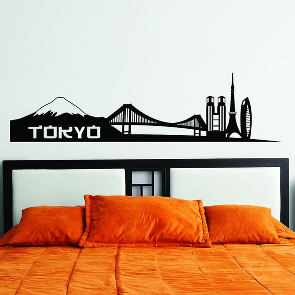style apply tokyo city skyline wall decal sticker apply wall decal stickers wall art step step diy