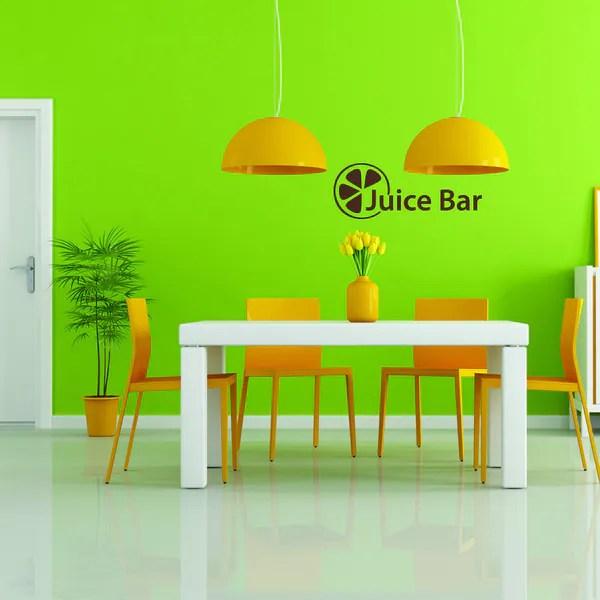 style apply juice bar multi color vinyl wall decal apply wall decal stickers wall art step step diy