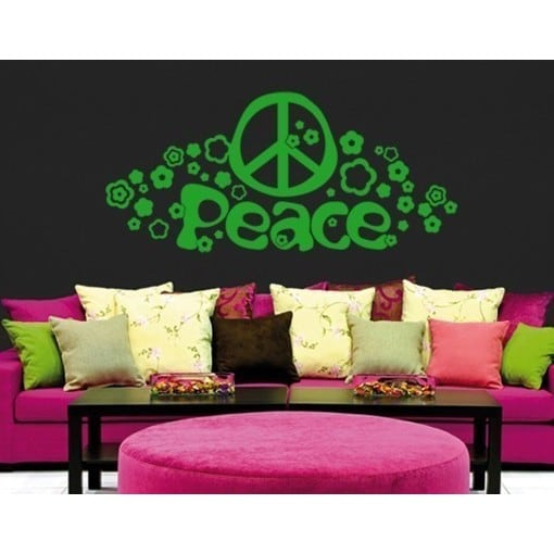 style apply peace love greeen vinyl removable wall decal apply wall stickers removable wall stickers wall