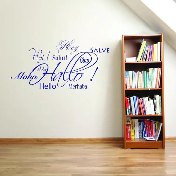 style apply hallo salut aloha vinyl wall decal apply wall decal stickers wall art step step diy