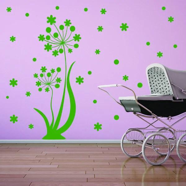 style apply dancing flower vinyl wall decal sticker mural art apply wall decal stickers wall art step step diy