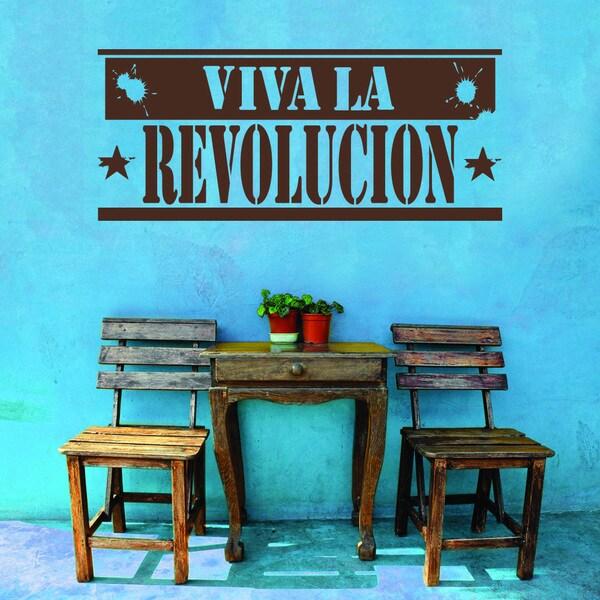 style apply viva la revolucion vinyl wall decal apply wall decal stickers wall art step step diy