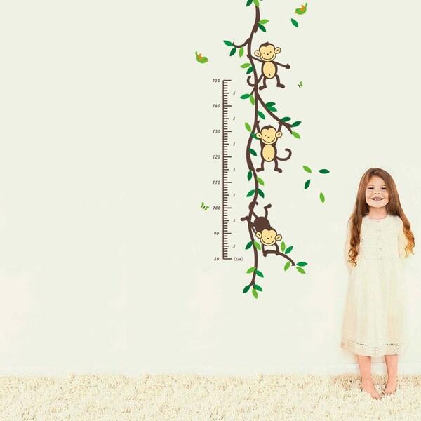 Shop Home Source \u0027Hanging Monkey Growth Chart\u0027 16-inch x 24-inch