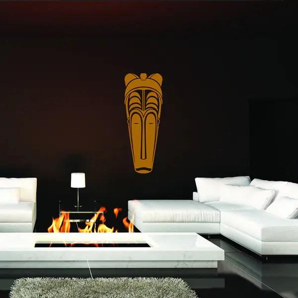 style apply african mask iii vinyl wall art decal apply wall decal stickers wall art step step diy