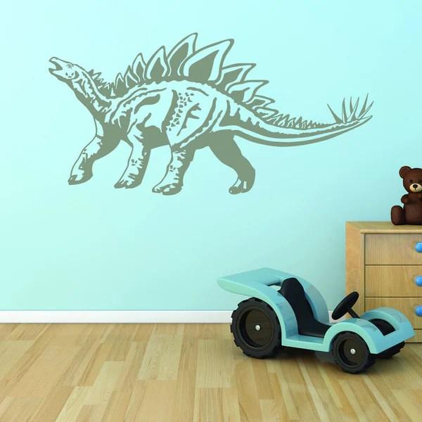 apply stegosaurus dinosaur vinyl wall decal sticker mural art apply wall decal stickers wall art step step diy