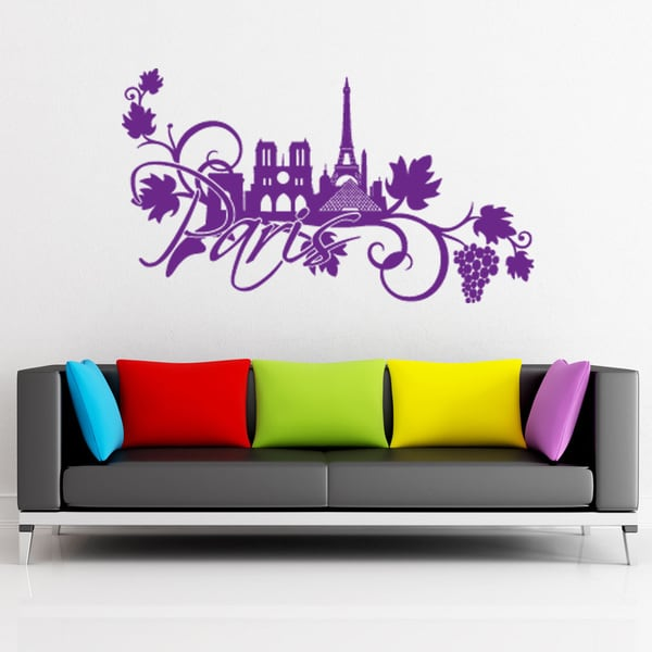 style apply paris floral vinyl wall decal sticker mural art apply wall stickers removable wall stickers wall