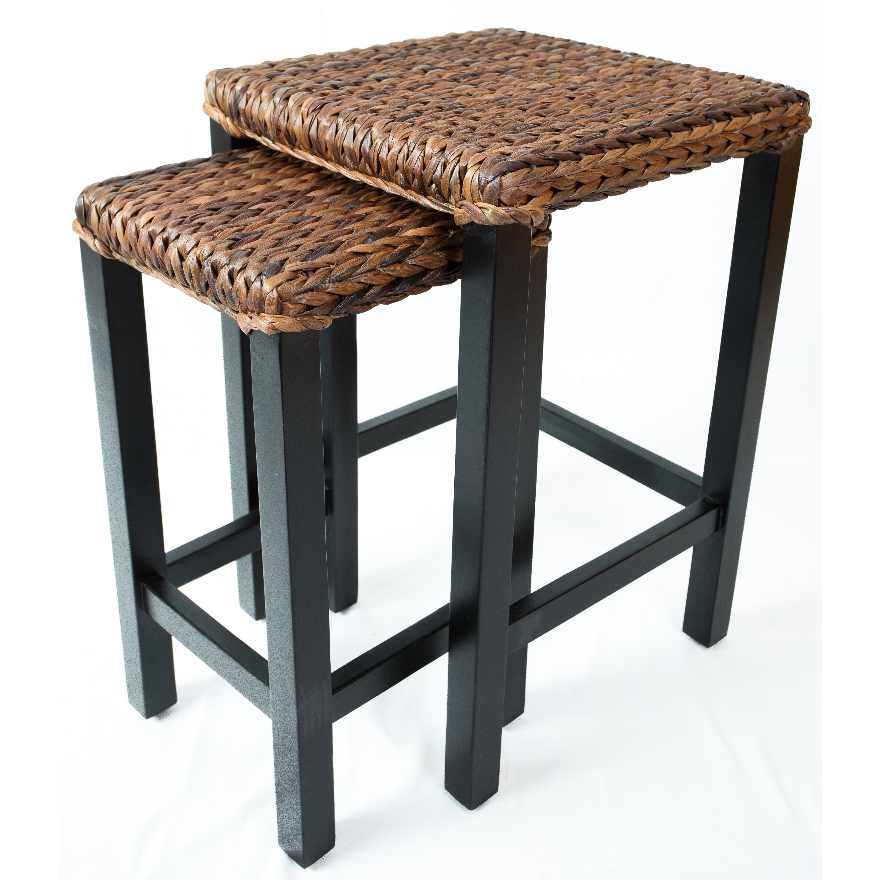 Nesting Tables Living Room Birdrock Home 3 Pc Abaca Nesting Tables Accent Side Table Hand Woven Espresso Bed Sofa Snack End Table Home Elektroelement Com Mk