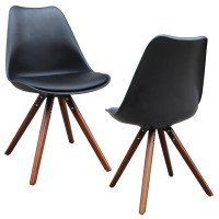 Shop Klein Mid Century Modern Faux Leather Accent Chairs ...