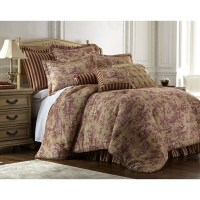 Shop Sherry Kline Cassandra Toile 4-piece Luxury Comforter ...