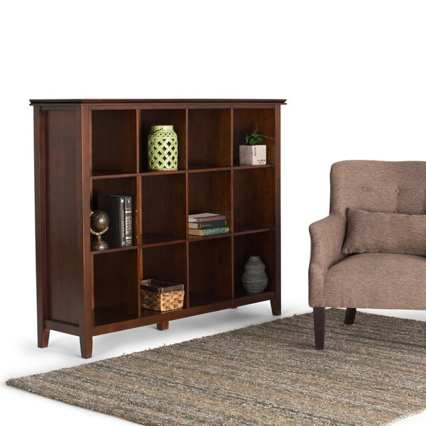 Shop Wyndenhall Stratford Auburn Brown 12 Cube Bookcase