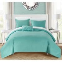 Shop Chic Home Kingston 8-Piece Turquoise Bed in a Bag ...