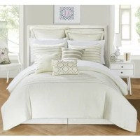 Shop Chic Home Kingston 8-Piece Beige Bed in a Bag Duvet ...