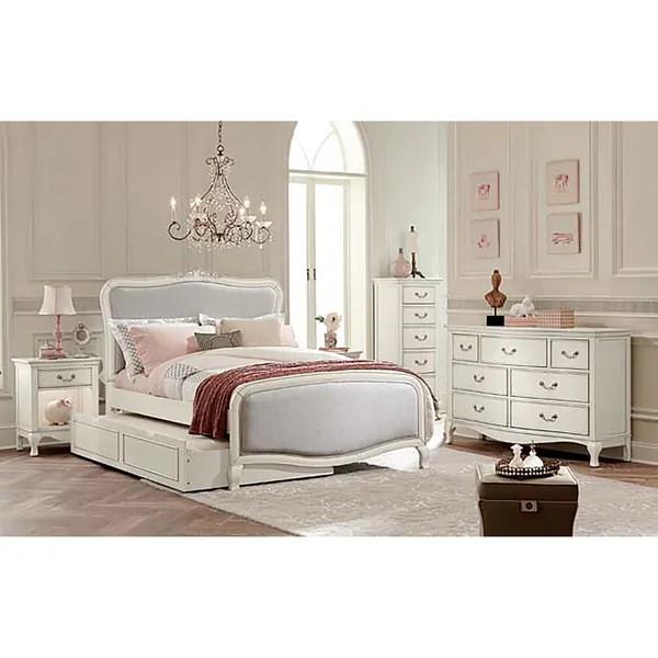 Kensington Katherine Antique White Full Size Upholstered