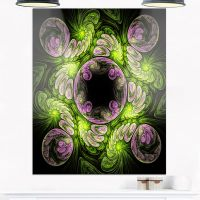 Shop Green and Purple Large Fractal Flower - Large Floral ...