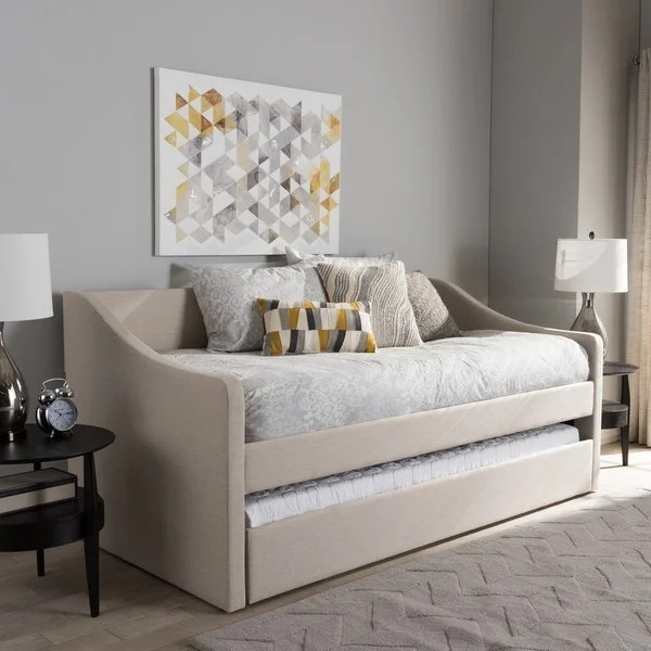 Baxton Studio Kallikrates Modern Daybed with Trundle Bed - Free