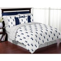 Shop Sweet Jojo Designs Navy and White Woodland Deer 3 ...
