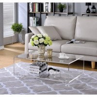 Shop Acrylic 2 Tier Coffee Table - Free Shipping Today ...