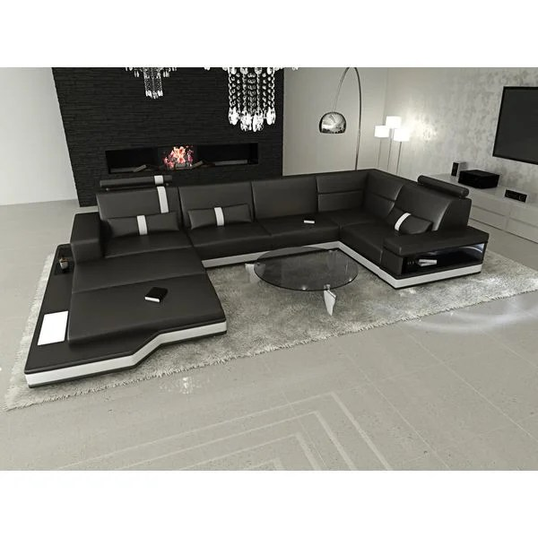 Designer Wohnlandschaft Shop Design Modern Los Angeles Black U Shaped Sectional