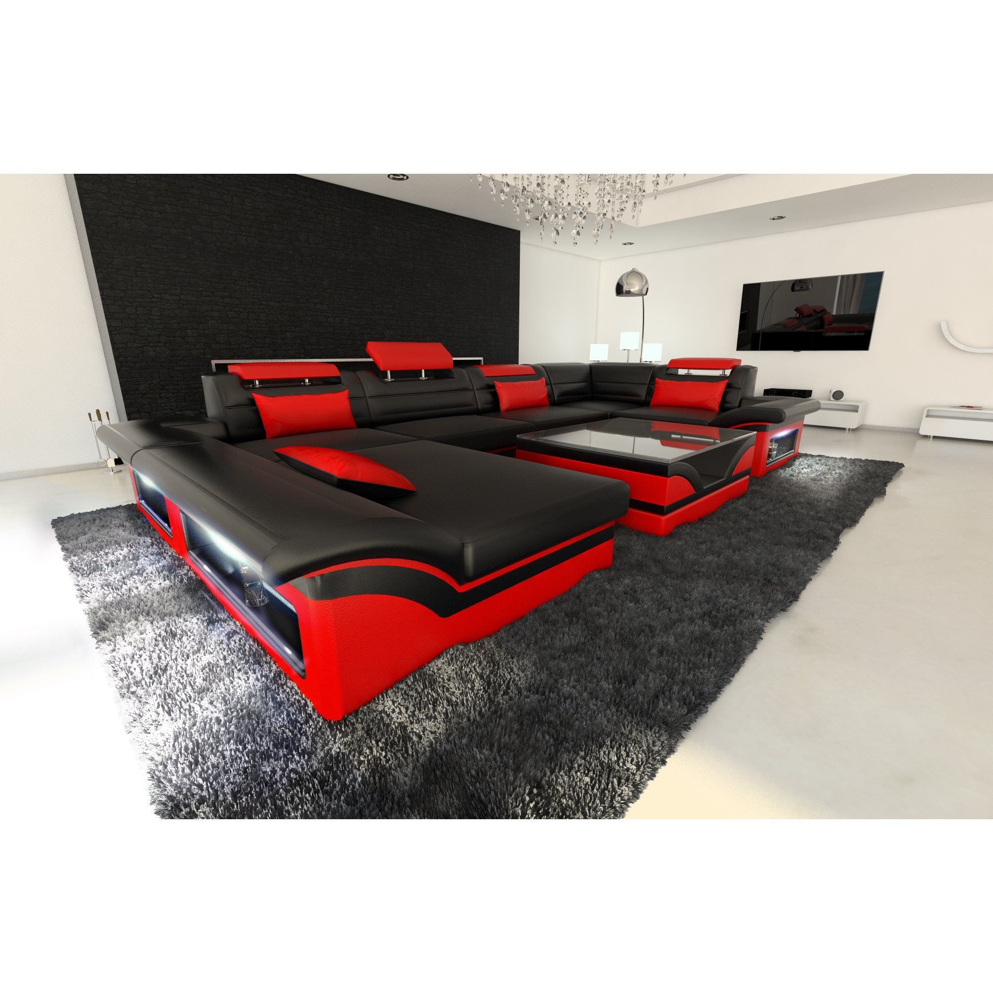 Xxl Sectional Sofa Jacksonville Led Lights U Shaped Led Sofa Get Our Modern Designed Led Coffee Table Modern Sofas
