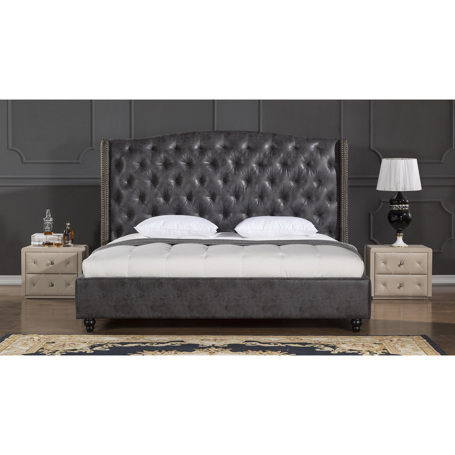 Leather Bed Frame Buy Leather Beds Online At Overstock Our Best Bedroom Furniture