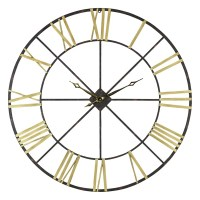 Baldwin Oversized Black/Gold-tone Metal 48-inch Wall Clock ...