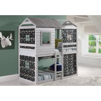 Shop Donco Kids Loft-Style Light Grey Twin-over-Twin Bunk ...