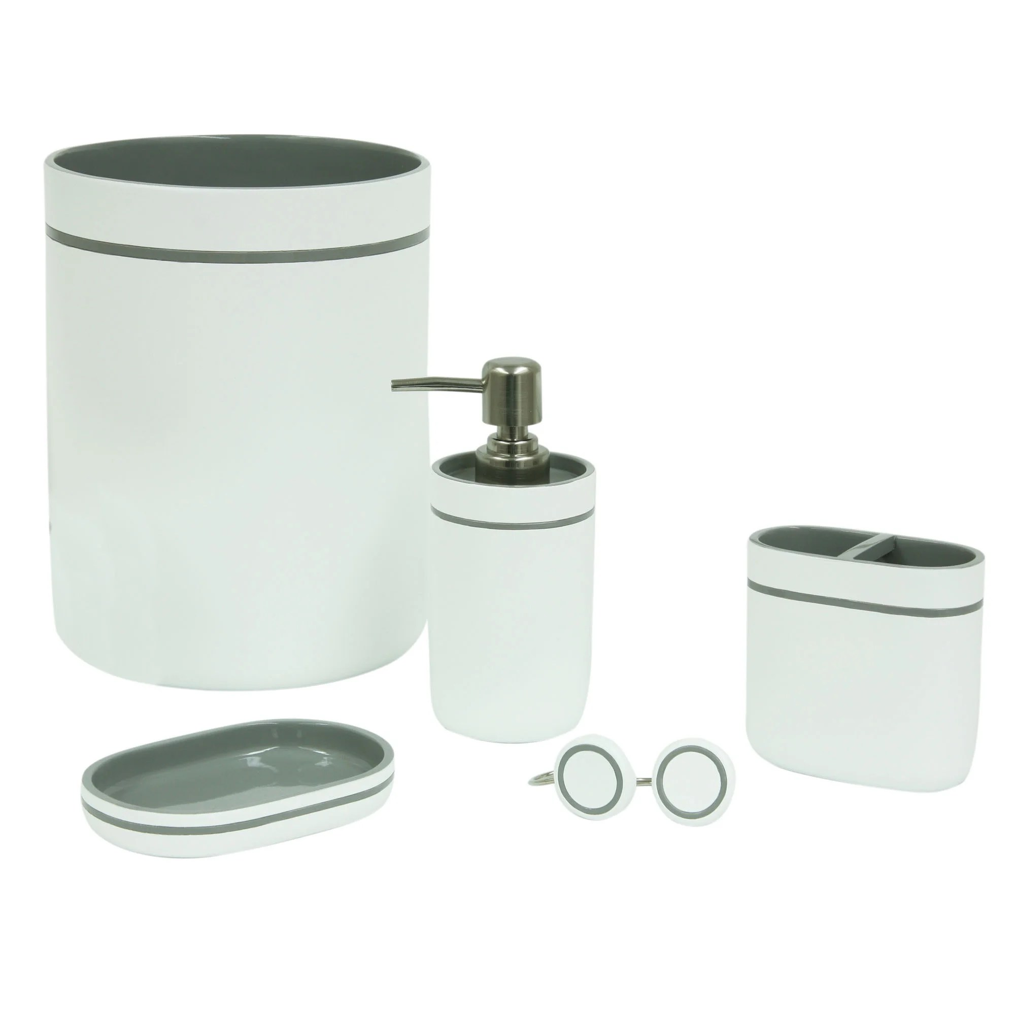 Bath Accessories Details About Portico Grey Bath Accessories 4 Individual Options Available