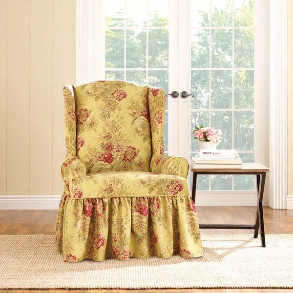 Shop Sure Fit Ballad Bouquet Wing Chair Slipcover In