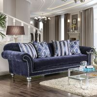 Navy Microfiber Sofa Sofas Oversized Sectionals ...