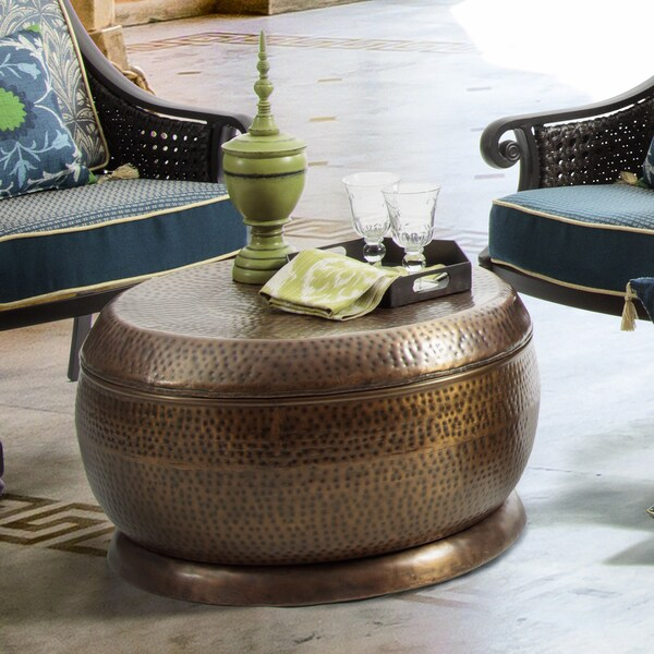 Couchtisch Copper Shop Bombay Madras Outdoor Antique Copper Coffee Table