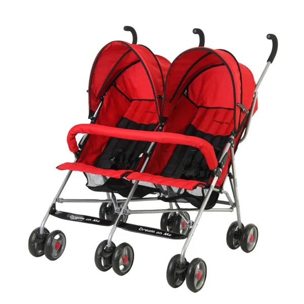 Twin Stroller Dream Shop Dream On Me Red Twin Stroller Free Shipping Today