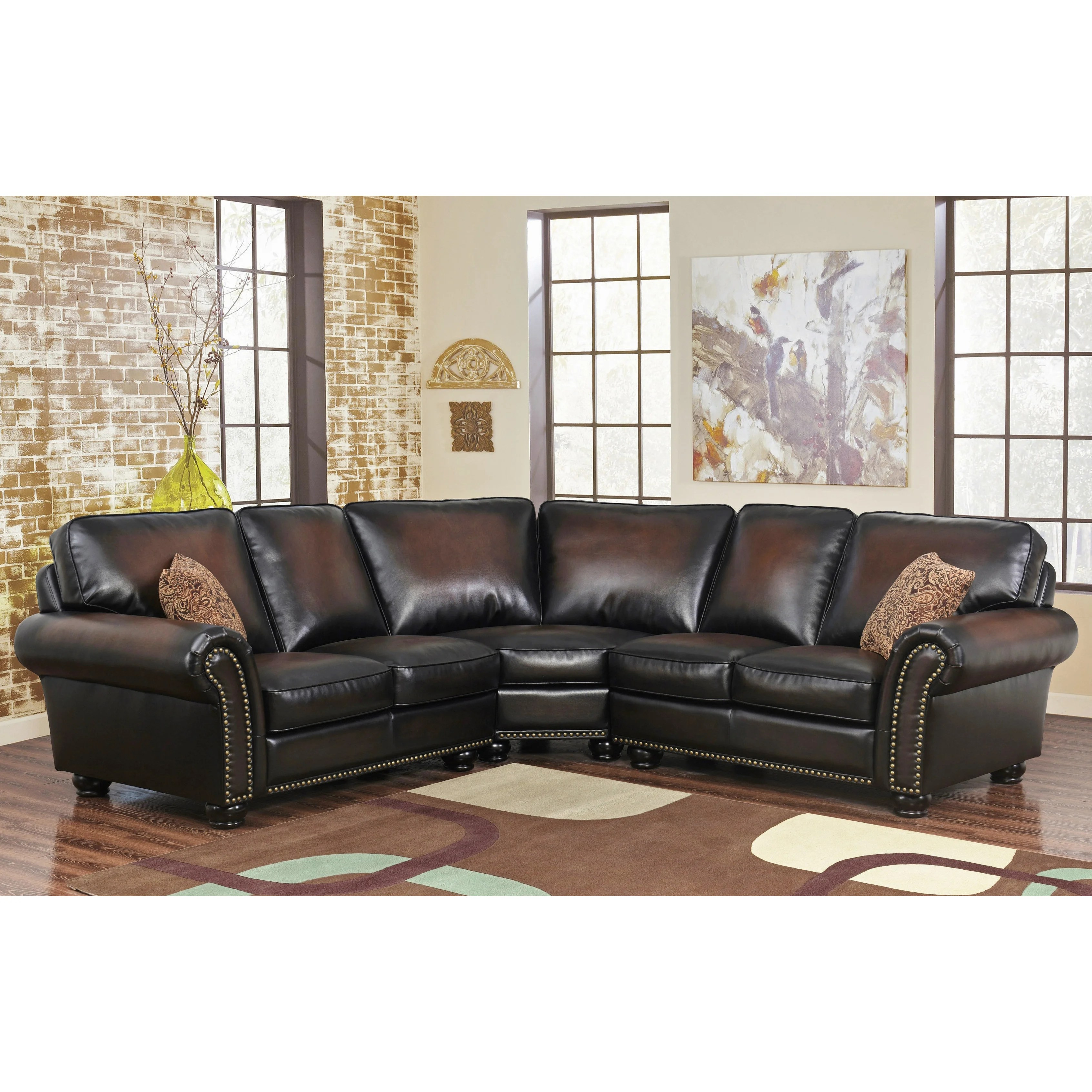 Leather Sectional Sofa Recliner Buy Leather Sectional Sofas Online At Overstock Our Best Living