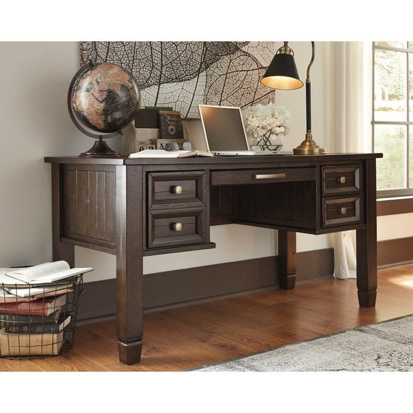 Shop Signature Design by Ashley Townser Grey Home Office Desk - Free