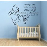 Shop Winnie The Pooh Quotes Children Kids Art Mural Girl ...