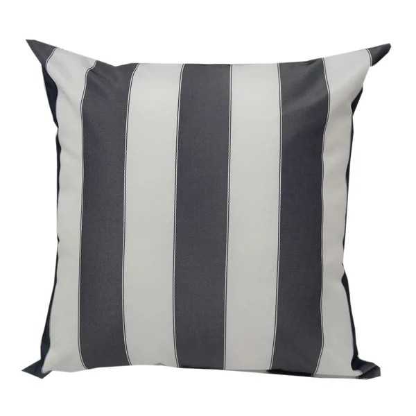 Shop Blue And White Striped Outdoor Throw Pillow From Home