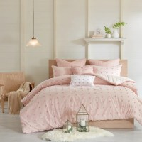 Urban Habitat Maize Pink Cotton Jacquard Comforter Set ...