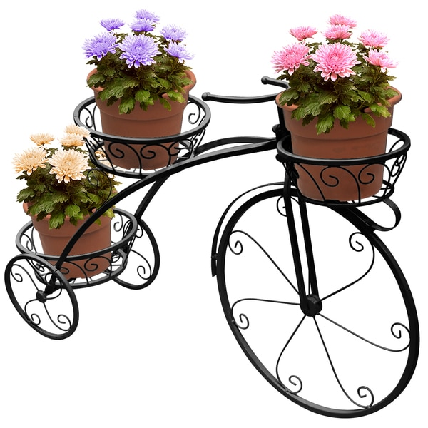 Blumentopf Shop Shop Sorbus® Tricycle Plant Stand - Flower Pot Cart Holder
