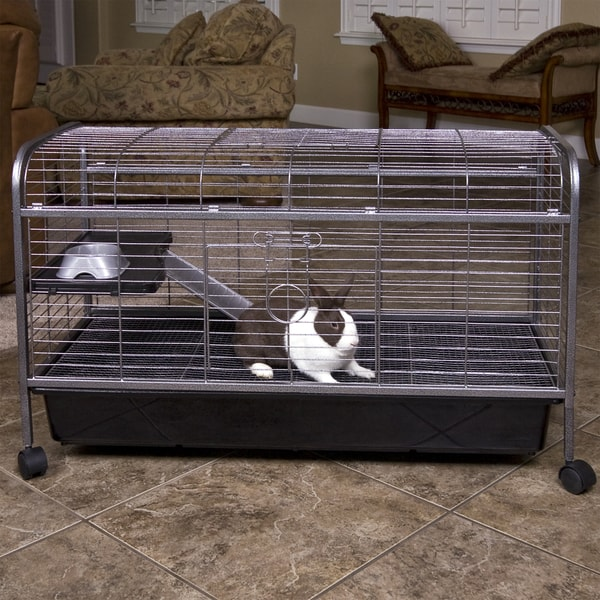 Shop Living Room Series Rabbit/Guinea Pig Home - Black - On Sale
