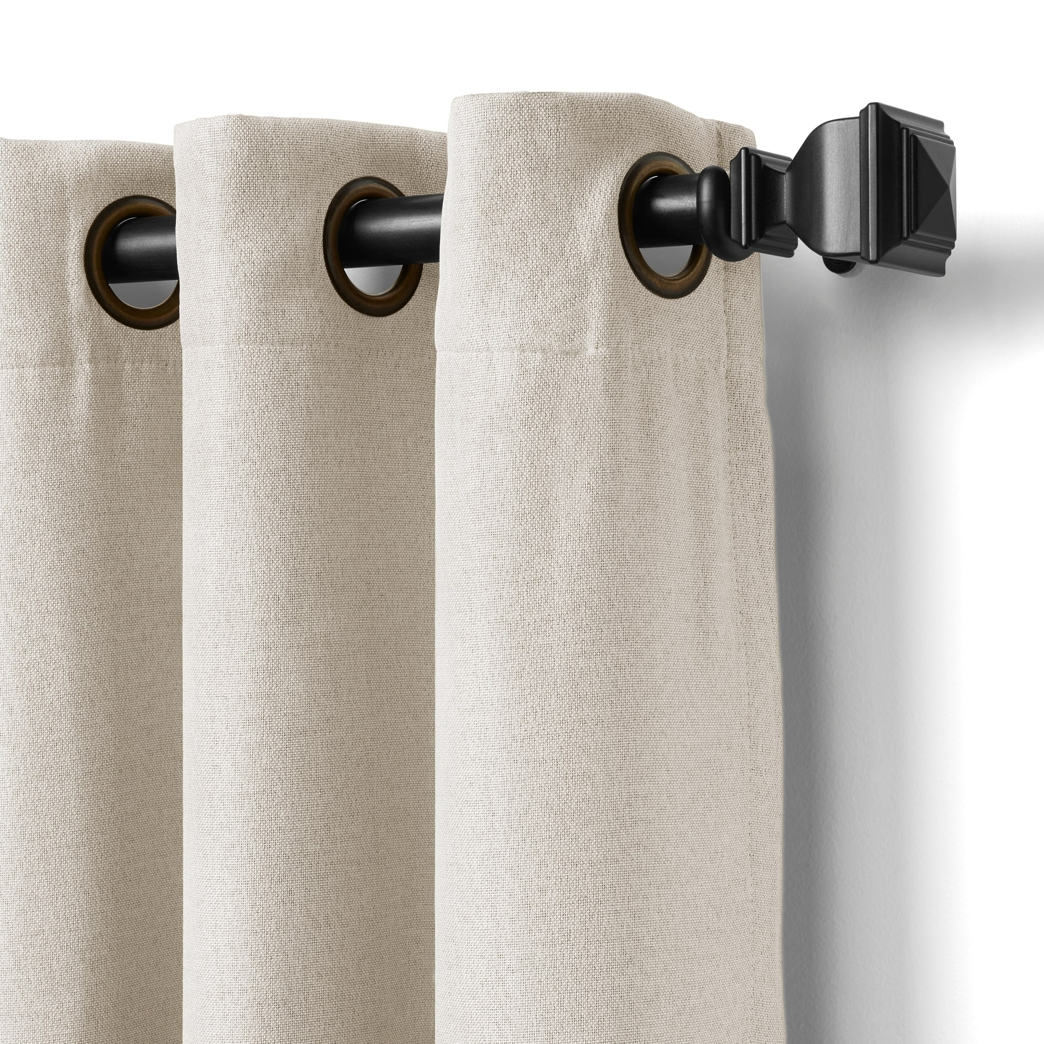 94 Inch Blackout Curtains Elrene Home Fashions Braiden Blackout Window Panel 52 Inch By 95 Inch Gray
