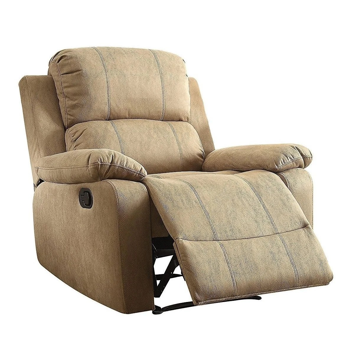 Recliner Pillow Details About Q Max Bina Brown Memory Foam Pillow Top Reclining Arm Chair