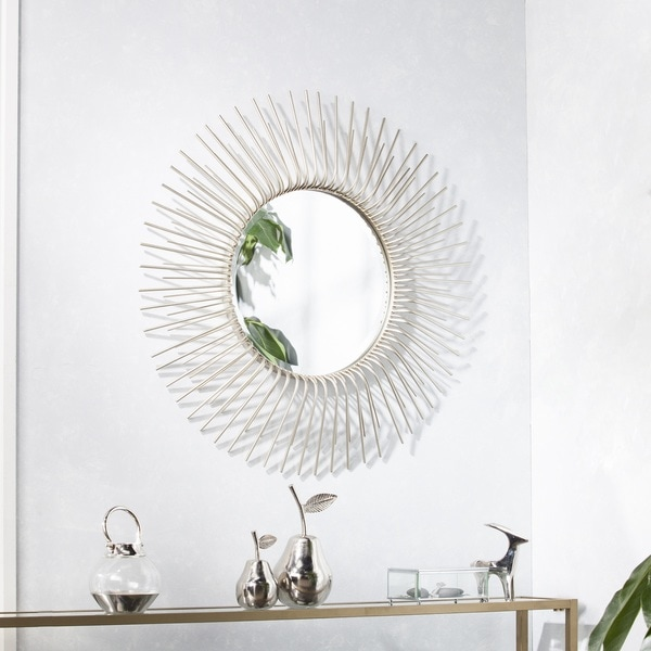 Decorative Mirror Kirklands Shop Clay Alder Home Liberty Round Oversized Sunburst Wall