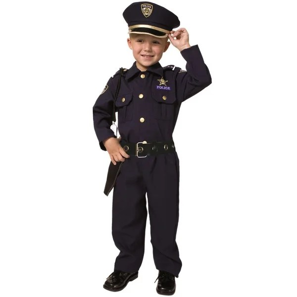 Shop Award Winning Deluxe Police Costume Set (Size 2-18) - Free