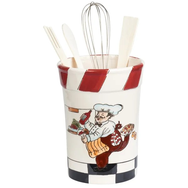 Shop Chef Ceramic Utensil Holder Free Shipping On Orders