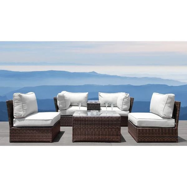 shop all weather resort grade outdoor furniture patio sofa set with back cushions