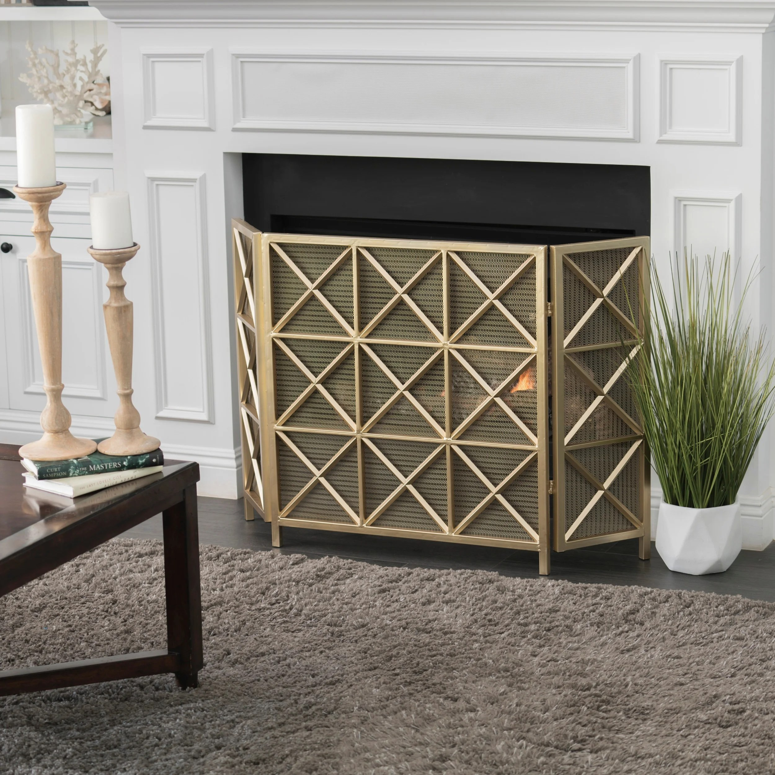 Small Fireplace Screens Under 30 Wide Buy Room Dividers Decorative Screens Online At Overstock Our