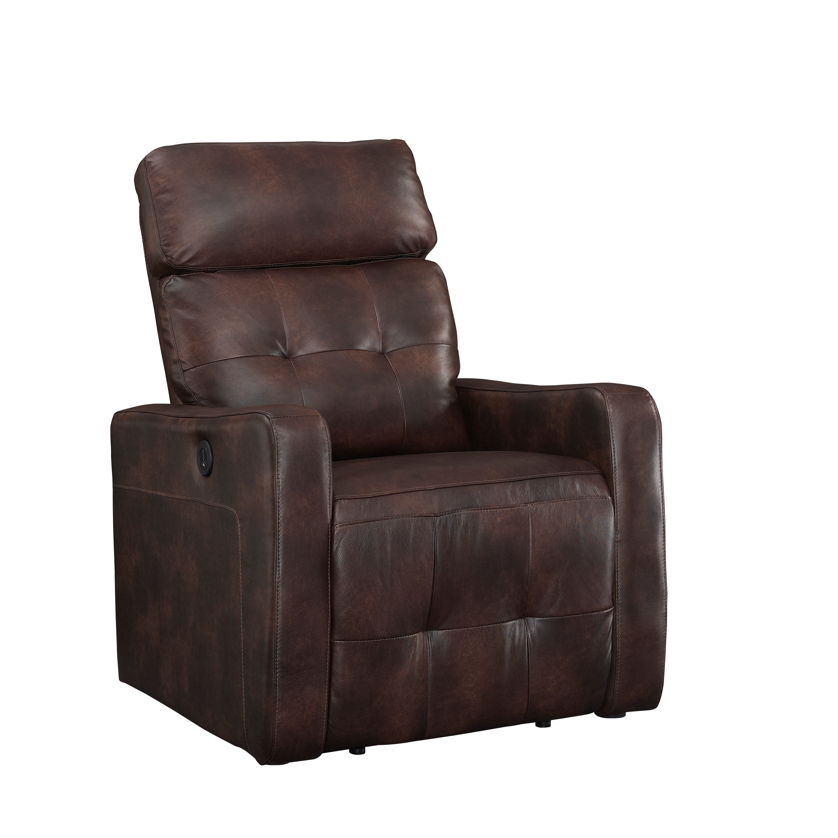 Electric Recliner Leather Chairs Details About Ac Pacific Elsa Contemporary Living Room Power Recliner Leather Chair