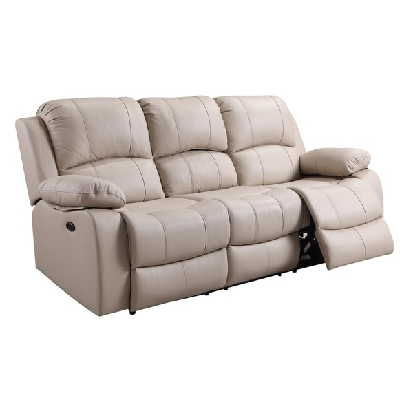 Bradley Power Reclining Top Grain Italian Leather Sofa