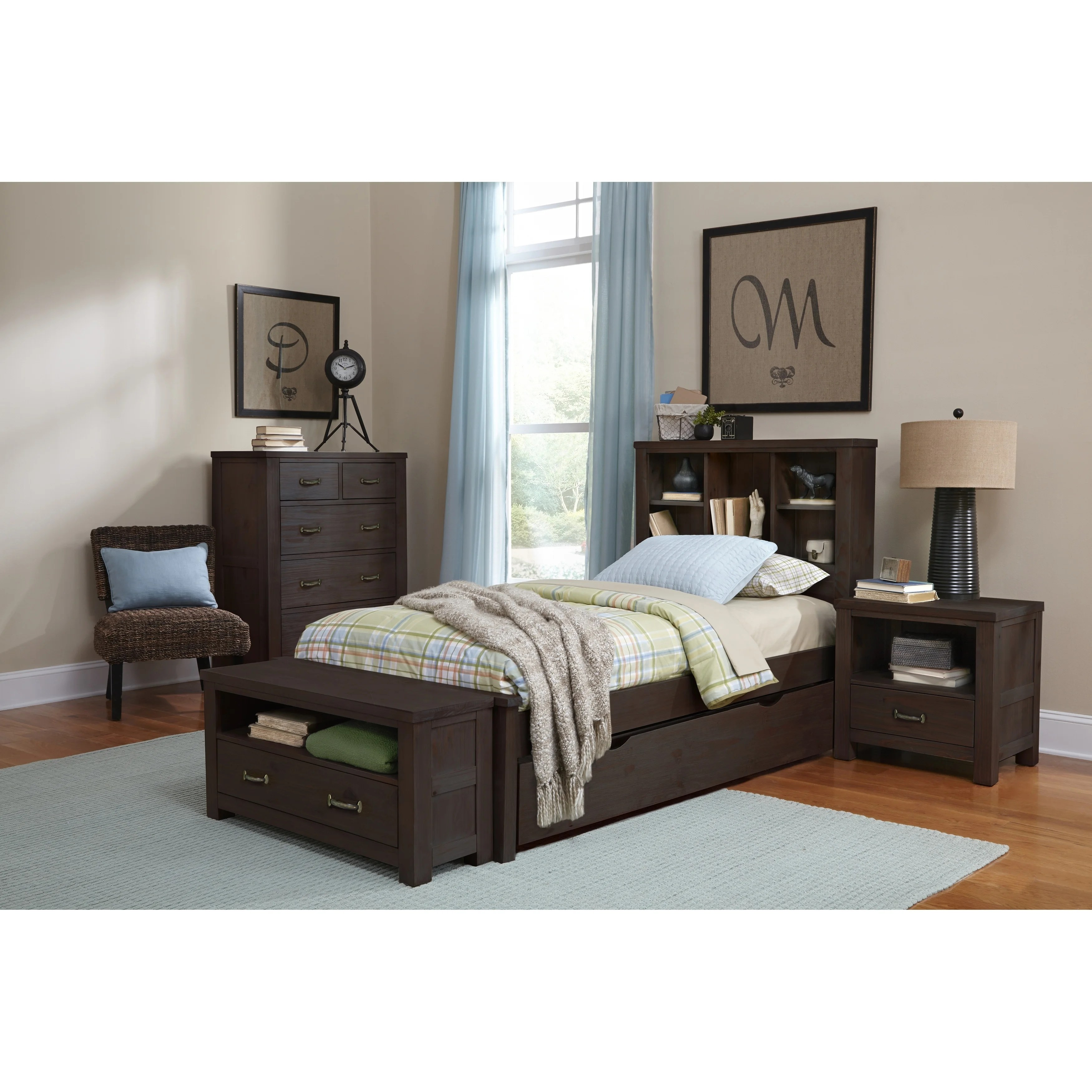 Bookcase Bed Details About Hillsdale Highlands Twin Bookcase Bed With Trundle Espresso
